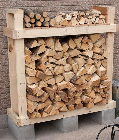 diy firewood log rack 9 easy diy outdoor firewood racks the garden glove