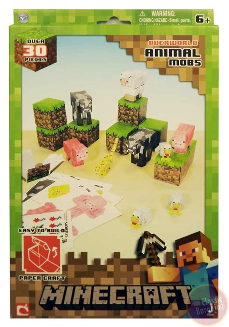 Minecraft Papercraft Animal Mobs Set - minecraft papercraft animal mobs new 35 set sheep