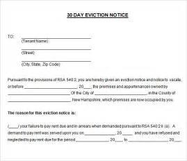 14 Day Eviction Notice Template by Tenant To Landlord 30 Day Notice Letter Exle Cover