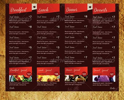 takeaway menu template 18 takeaway menu template free psd jpeg ai format