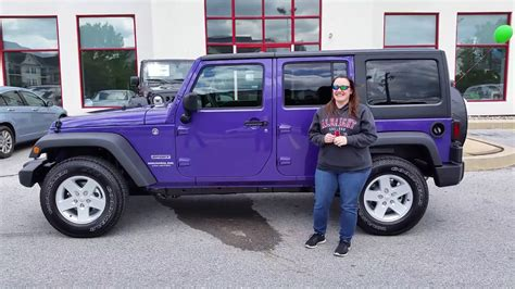 xtreme purple jeep congratulations jessica on your xtreme purple jeep youtube