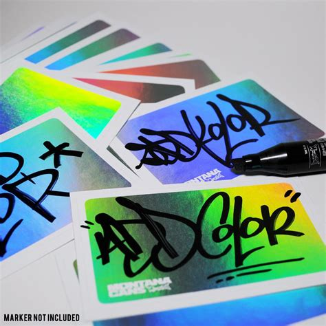 montana cans logo eggshell hologram stickers pack
