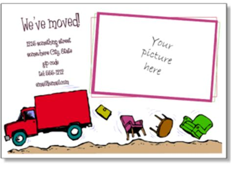 moving house cards template printable moving announcements add a photo change of