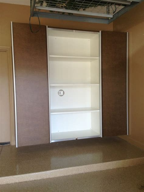 Garage Cabinets Sliding Doors Garage Cabinets With Sliding Doors Contemporary Garage