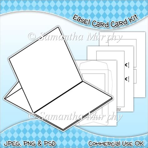easel box card template easel card envelope template commercial use ok 163 3 00