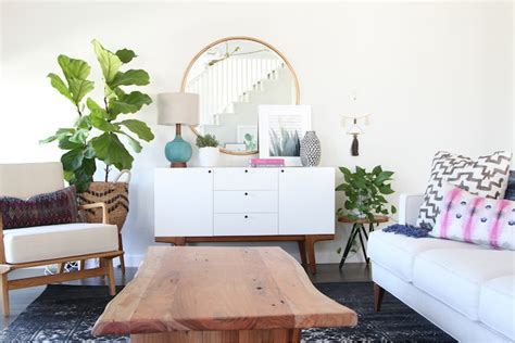 How To Make An Upholstered Coffee Table by Family Friendly Bohemian Eclectic Living Room