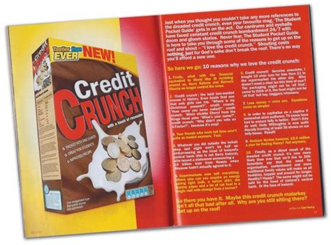 10 Reasons To The Credit Crunch by Creative Design The Student Pocket Guide Limitedthe