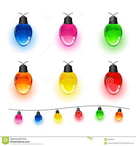 white and colored christmas lights set of light bulbs royalty free stock photography image