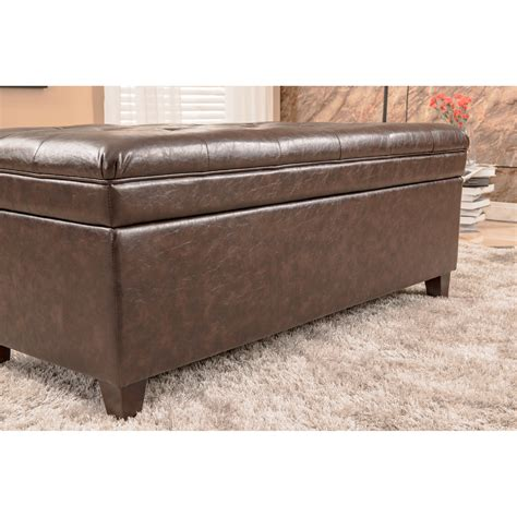 padded bench storage bellasario collection upholstered storage bedroom bench