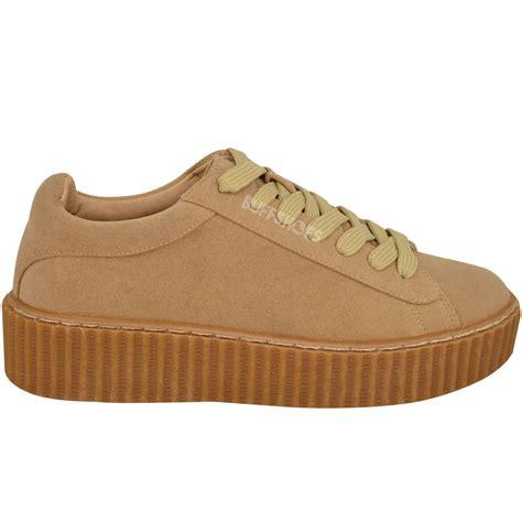 womens creeper trainers sneakers platform