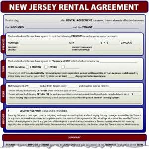 new jersey rental agreement