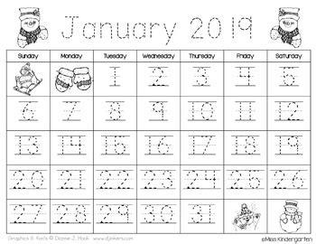 calendar templates freebie updated      kindergarten love