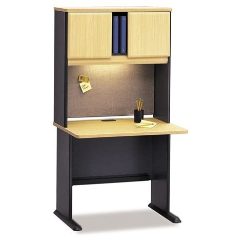36 Computer Desk Bush Business Series A 36 Quot Wood Computer Desk With Hutch In Beech Bsa001 143