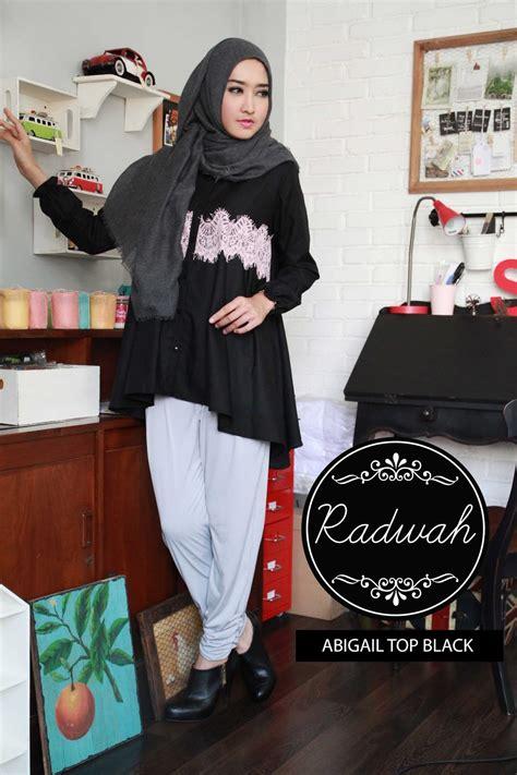 Bh759 Size S Broken White Lace Wanita Atasan Cewek Murah Koleksi Busana Muslimah Baju Muslim Radwah
