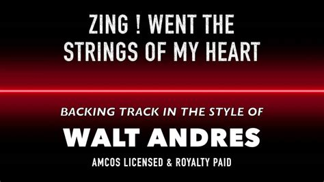 tattooed heart backing track zing went the strings of my heart midi mp3 backing track