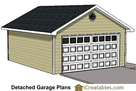 20 x 24 garage plans 20x24 1 car detached garage plans download and build