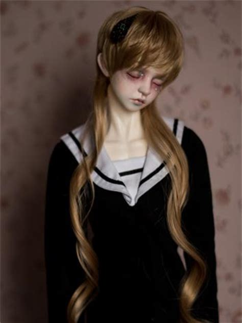sizes of jointed dolls bjd brown hair wig for sd size