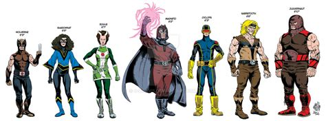 marvel actor height chart x men height scale by o draws on deviantart