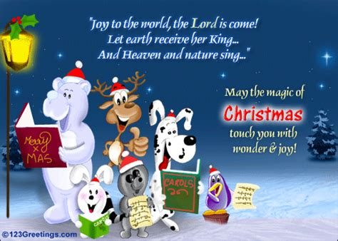 joy   world  carols ecards greeting cards