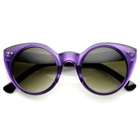 Chic Sunglasses womens chic circular pointed cat eye sunglasses ebay