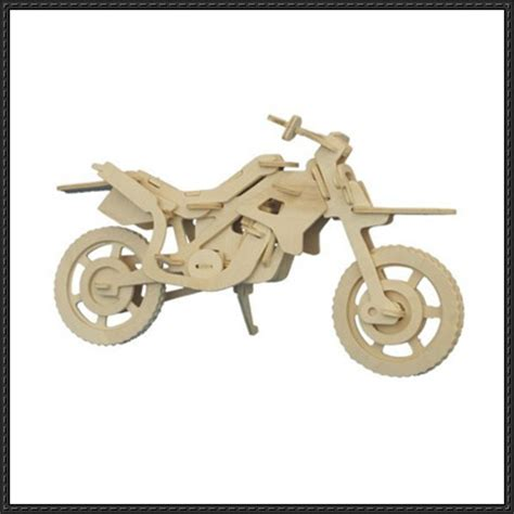 3d puzzle motorcycle free template