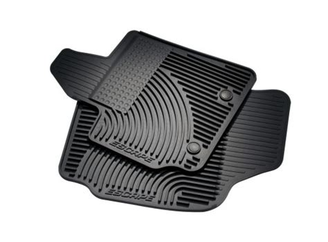 2014 Ford Escape Rubber Floor Mats by Floor Mats All Weather Thermoplastic Rubber Black Dual