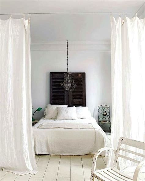 dividing a bedroom with curtains 25 ways to use curtains as space dividers digsdigs