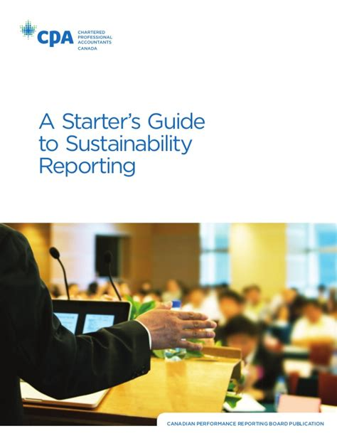 The Sustainable Mba A Business Guide To Sustainability Pdf by A Starters Guide To Sustainability Reporting