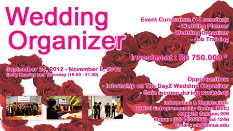 Part Time Wedding Organizer Jakarta by Wedding Organizer Incubator