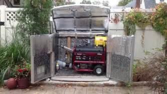 Suncast Cabinet Quiet Generator Shelter Youtube