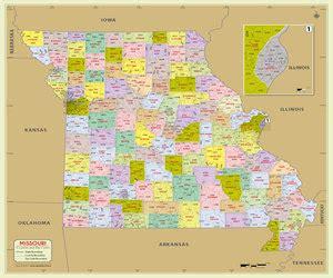 zip code map missouri missouri county map missouri counties