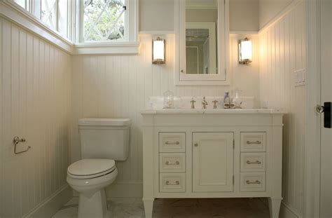 beadboard vanity traditional bathroom burnham design