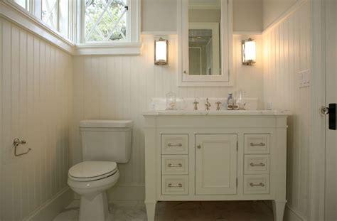 Cream Bathroom Vanity   Cottage   bathroom   Giannetti Home