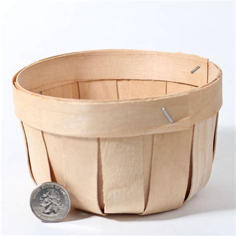 Cheap Western Home Decor by Small Natural Chipwood Apple Bushel Basket Baskets