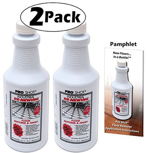 2 pack pro industrial re newing floor restorer and