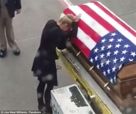 soldier and spouse and their traveling house books shawn widow meets his coffin at the airport
