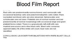 peripheral blood smear report sle onc 2 myeloproliferative disorders flashcards cram