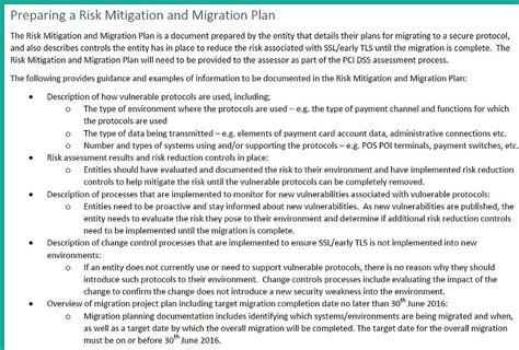 Sle Risk Mitigation Plan Template