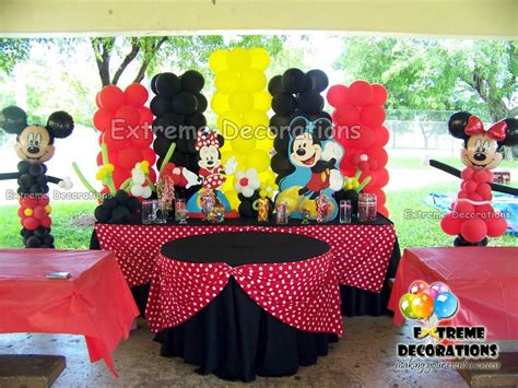 Mickey And Minnie Mouse Home Decor by Party Decorations Miami Balloon Sculptures