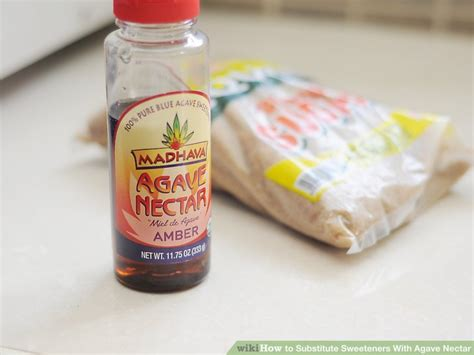 how to substitute sweeteners with agave nectar 2 steps