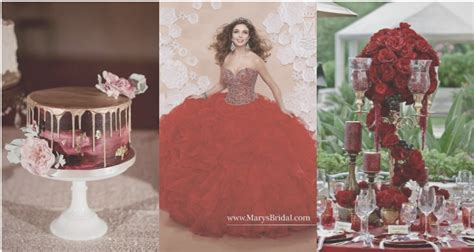 quinceanera themes for color red look as lovely as a rose in a red quinceanera theme