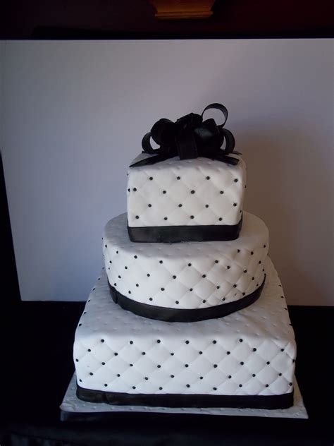 black pattern cake black and white beaded wedding cake cakecentral com