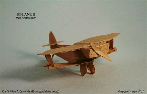 Origami Biplane - i could harley wait to show you these origami vehicles