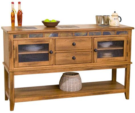 rustic oak buffet server oak server rustic buffet server