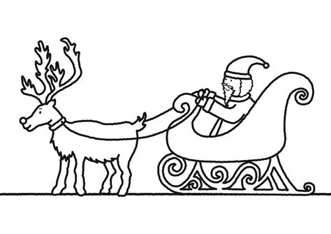 coloring page of santa in his sleigh coloring pages of santa claus and sleigh christmas