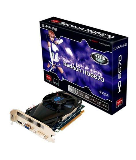 Vga Card Ati Radeon Hd 6670 sapphire amd 1 gb ddr3 graphics card buy sapphire amd 1 gb ddr3 graphics card at low