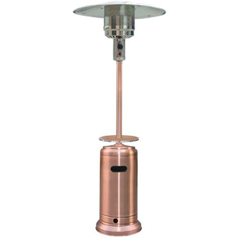 Patio Heaters Propane Shop Garden Treasures 41 000 Btu Copper Steel Liquid Propane Patio Heater At Lowes