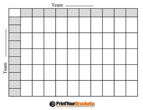 Free Football Square Template by Bowl Football Pool Template Invitation Template