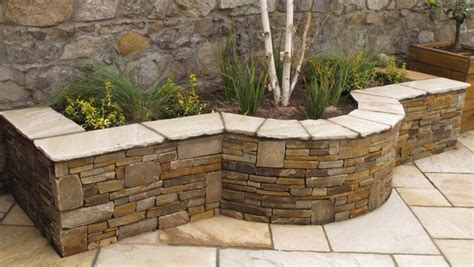 stone bed raised bed gardening stone images