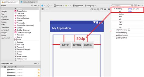 layout android padding layouts in android big app
